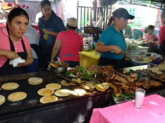 Grilled meats galore at the Juayua food festival