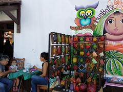 Lively street scene; Ataco