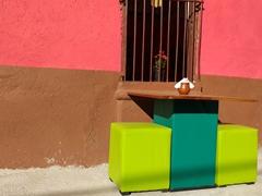 Colorful cafe; Ataco