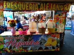 Fresh juice for sale; Juayua food festival