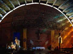 A rainbow of color inside El Rosario church; San Salvador