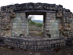 Carved entrance gate; Copan Ruins