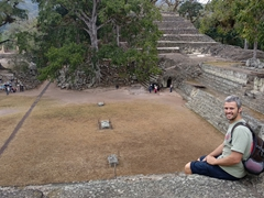 Robby at the Jaguar Court; Copan Ruins