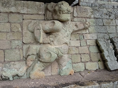 Carving of a jaguar at Jaguar Court; Copan Ruins