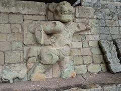Carving of a jaguar at Jaguar Court; Copan Ruins