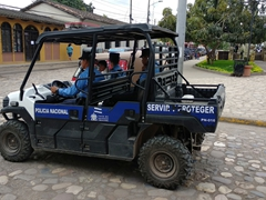 Copán police vehicle