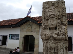 Copán's small archeological museum in the town center