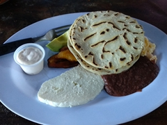 Traditional Honduran breakfast