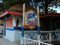 Salty dog seafood shack; West End in Roatan