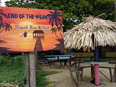 """End of the World"" beach bar and grill; West End"