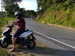 Our scooter to explore Roatan ($25 for 28 hours at Roacar, West End)