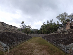 Panorama of the ball court; Copan Ruins