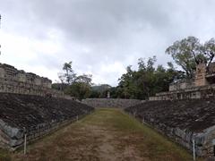 Panorama of the ball court; Copan Ruins