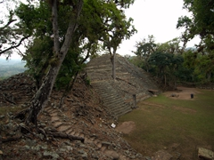 Early morning view of Copan Ruins - we have the entire place to ourselves for the first 2 hours!