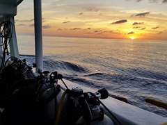 Gorgeous sunset on our 36 hour ride from Puntarenas to Cocos Island