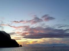 Sunset; Cocos Island