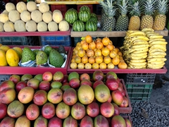 Roadside fruit display