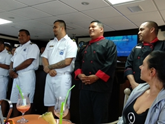 Meeting the staff of the Okeanos Aggressor II