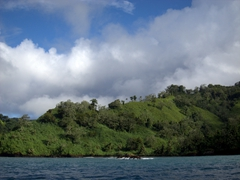 Cocos Island - an uninhabited island (except for park rangers) 550 km from Costa Rica