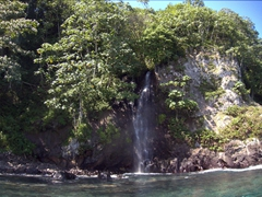 One of dozens of waterfalls visible on Cocos Island