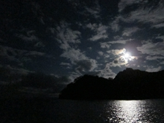 Moonrise over Cocos Island