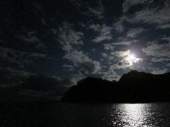 Moonrise over Cocos Island