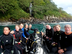 Natalie, Amber, David, Becky, Robby, Lucy, Matt, Gavin, Michelle and Dale - Panga 1 dive team