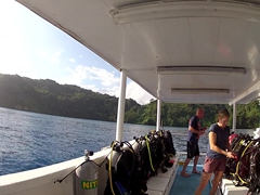 At long last, we made it to Cocos Island and everyone does last minute prep for our first dive