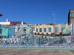 Sandinista revolution mural; Leon