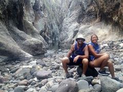 Striking a pose in Somoto Canyon