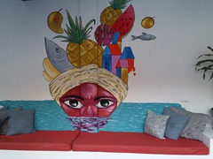 Funky art at our Selina hotel; Granada