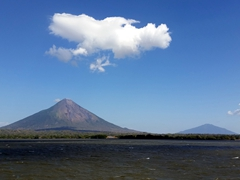 Concepcion and Maderas volcanoes dominate the island of Ometepe, our home for 4 nights