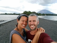 Selfie at Punta Jesus Maria, known for having the best sunsets on Ometepe