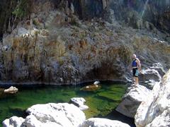 Robby admiring the vista; Somoto Canyon