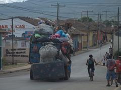 An overflowing garbage truck; Granada