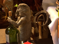 Stuffed iguana wine holder; Masaya market