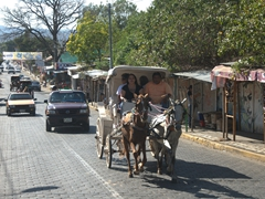 Horse carriage rides are a popular option in Masaya