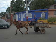 Horse carts are a common sight in rural Nicaragua