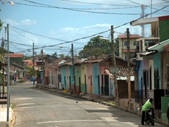 This colorful street in Granada reminded us of Trinidad, Cuba