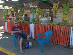 Getting a fruit smoothie; Altagracia