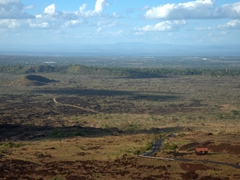 View from the top of Masaya volcano at the surrounding countryside