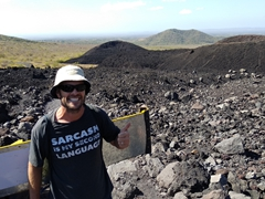 Thumbs up from Robby on our climb to the top of Cerro Negro