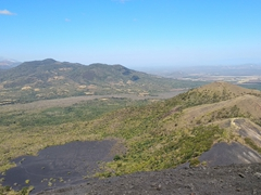 Amazing view of the Cordillera de los Maribios mountain range from the top of Cerro Negro