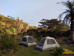 Our campsite near the crater of Telica volcano