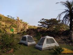 Our campsite near the crater of Telica volcano