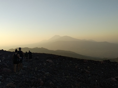 Hiking out to see sunset over Telica volcano