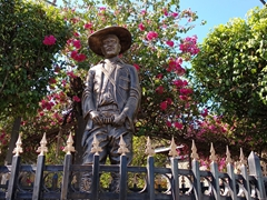 Statue of national hero Augusto Sandino, a Nicaraguan who fought against US intervention during the 1920s and 1930s; Leon