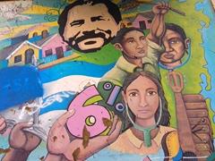 Revolutionary street art; Leon