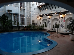 Our daily ritual was to take a dip in our swimming pool; Selina Granada