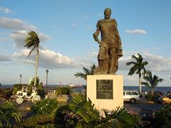 Statue of Francisco Hernández de Córdoba, the founder of Granada and León